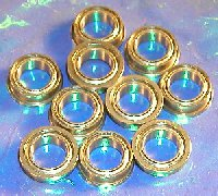 "10 Flanged Bearing FR168ZZ 1/4""x3/8""x1/8"" Shielded"