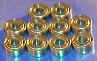 "10 Bearing R2-5ZZ 1/8""x5/16""x9/64"" Shielded"